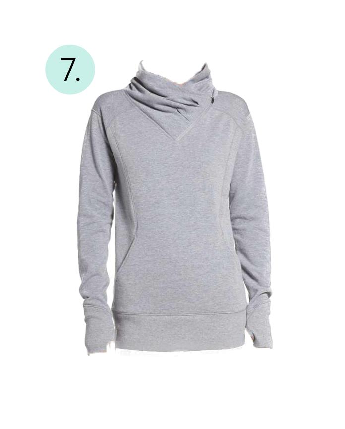 Zella Asymmetrical, Pullover, Cowl Neck, Zipper, Comfy, Cozy, Post Workout, Long Sleeve,
