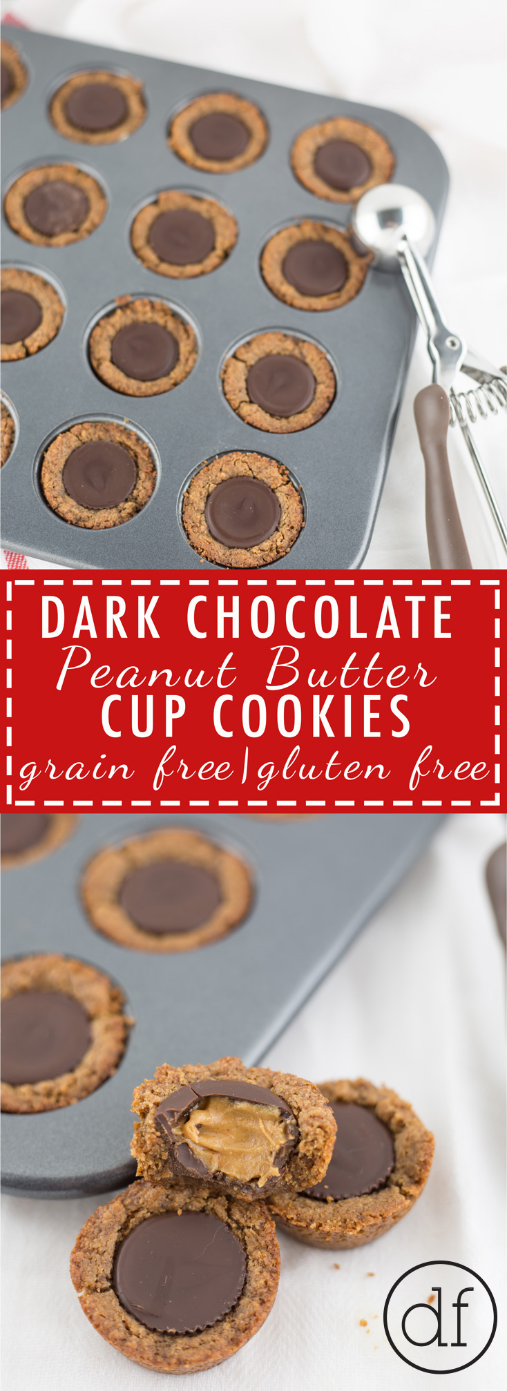 Peanut Butter Cup Cookies, Grain Free, Gluten Free, Healthy, Health Foods, Clean Eats, Almond Butter, Christmas Cookies, Holiday Cookies