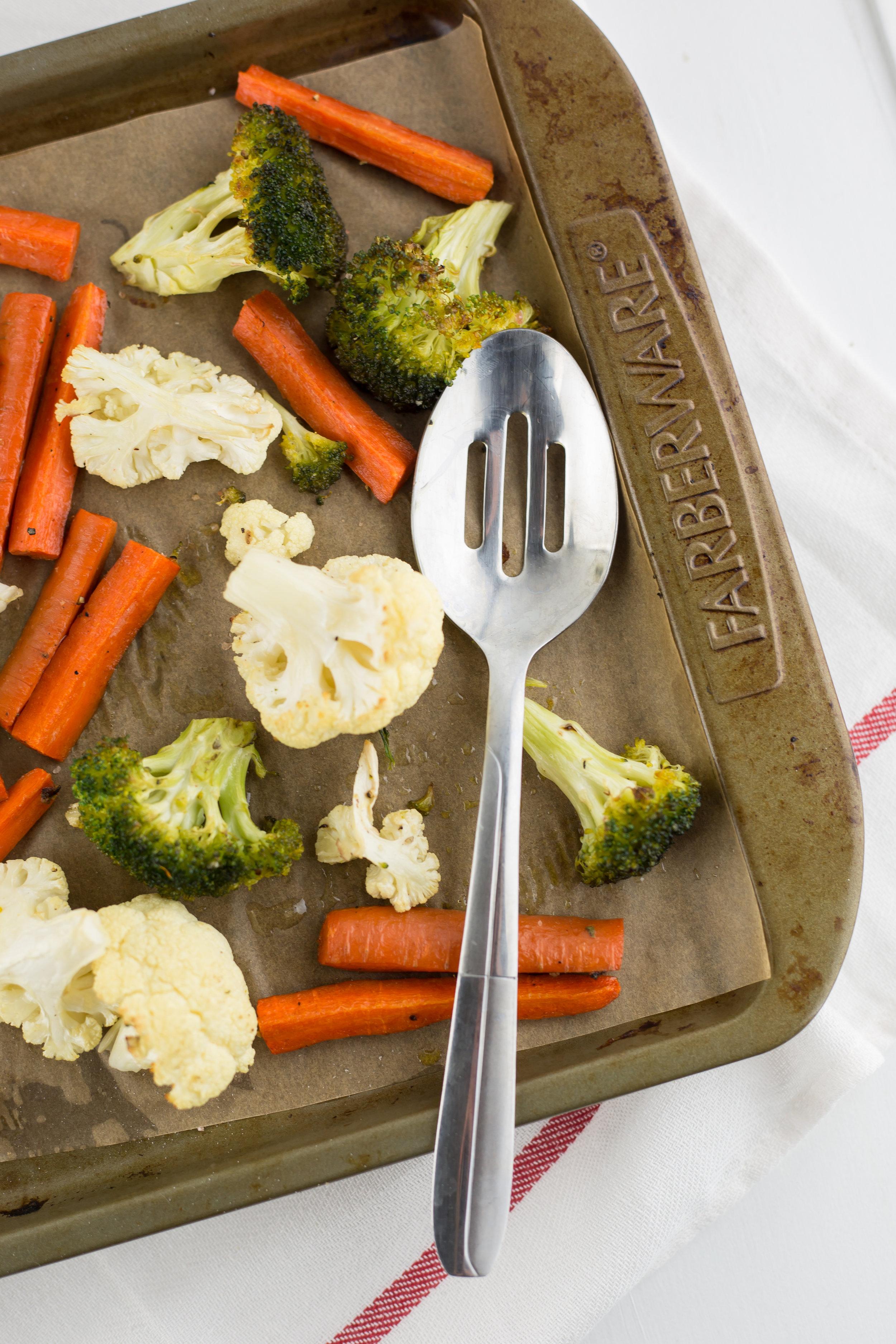 Cauliflower, Broccoli, Carrots, Healthy, Healthy Fats, Ghee, Paleo, Primal, Whole30