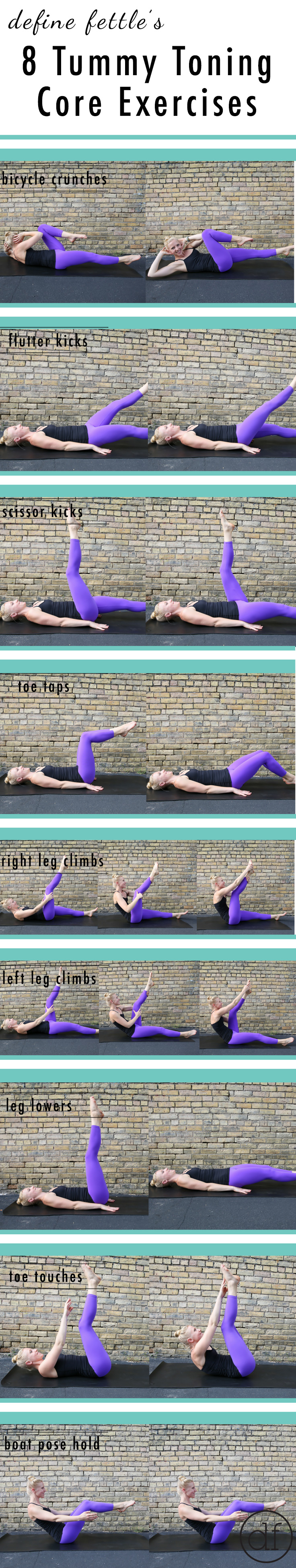 8 tummy toning core exercises, core workout, home workout, core exercises, core strengthening, 15 minute home workout, 15 minute core workout, at home workout, equipment free workout,