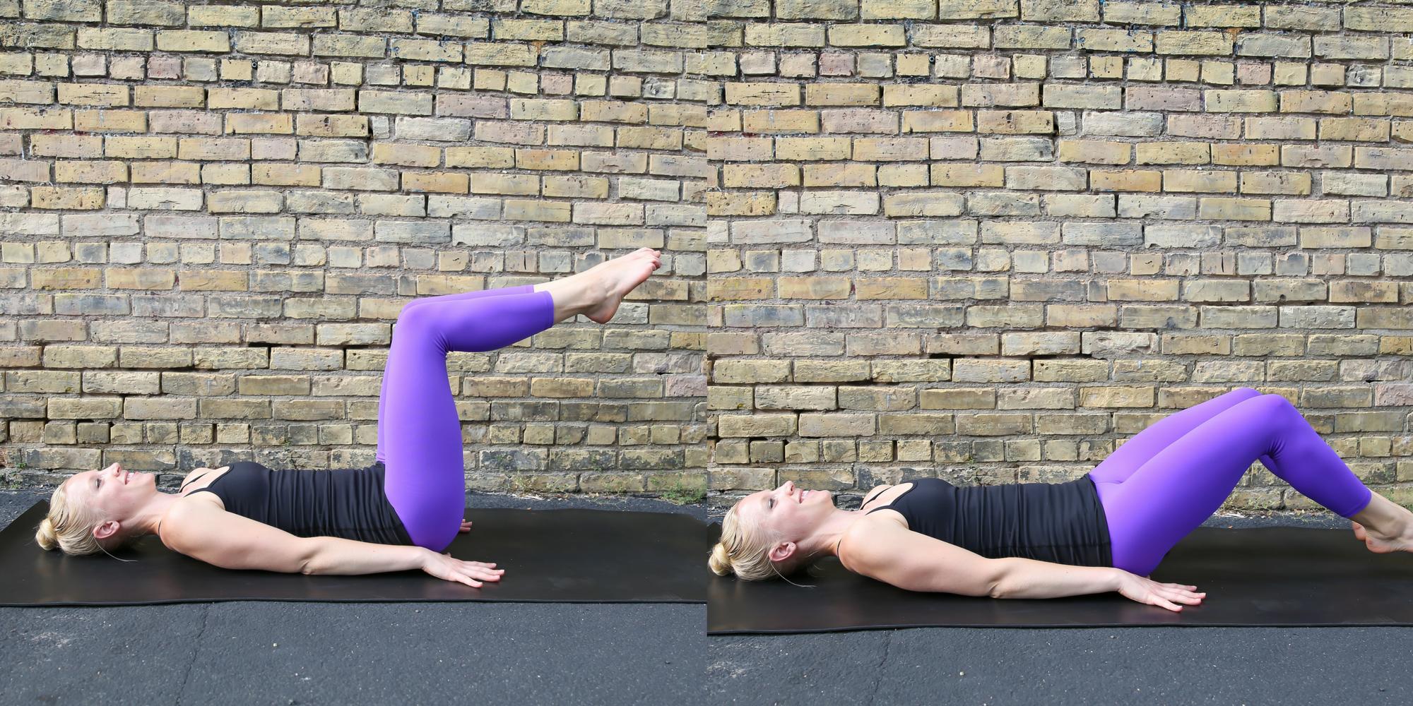 Toe Taps, core movements, strong core, define fettle, tummy toning core exercises, home workout, travel workout,