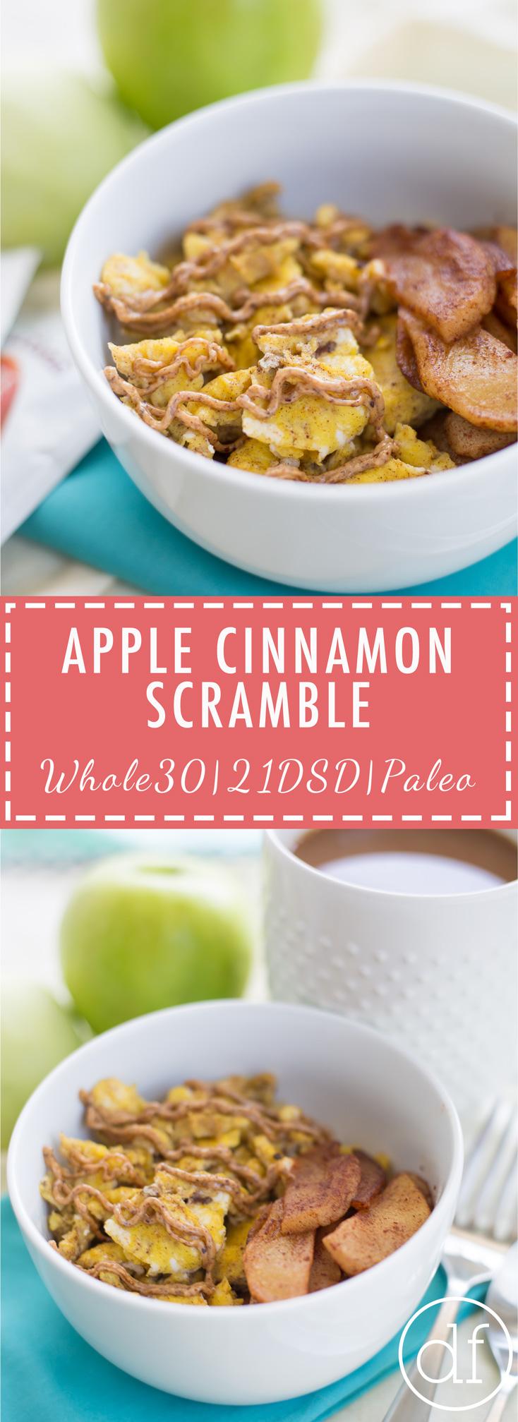 Apple Cinnamon Scramble, 21DSD, 21DSD Approved, 21 Day Sugar Detox, Breakfast, Paleo, Whole30, Easy Recipes, Paleo Recipes, Apple Cinnamon, Breakfast Scramble, 21DSD Coach,