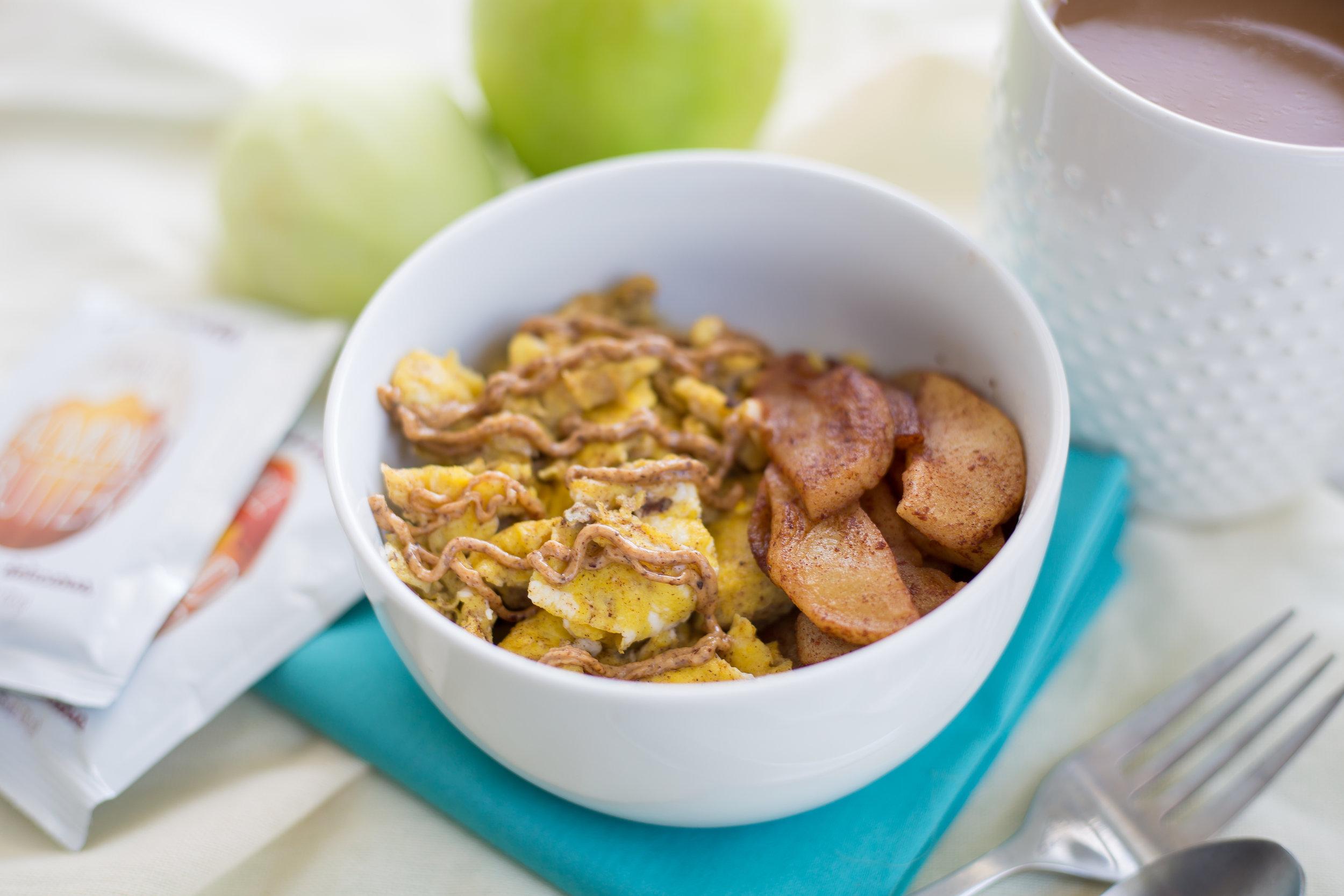 Apple Cinnamon Scramble, Breakfast, 21DSD Breakfast, Easy Recipes, Healthy Recipes, Grain Free, Gluten Free, Dairy Free, Delicious,