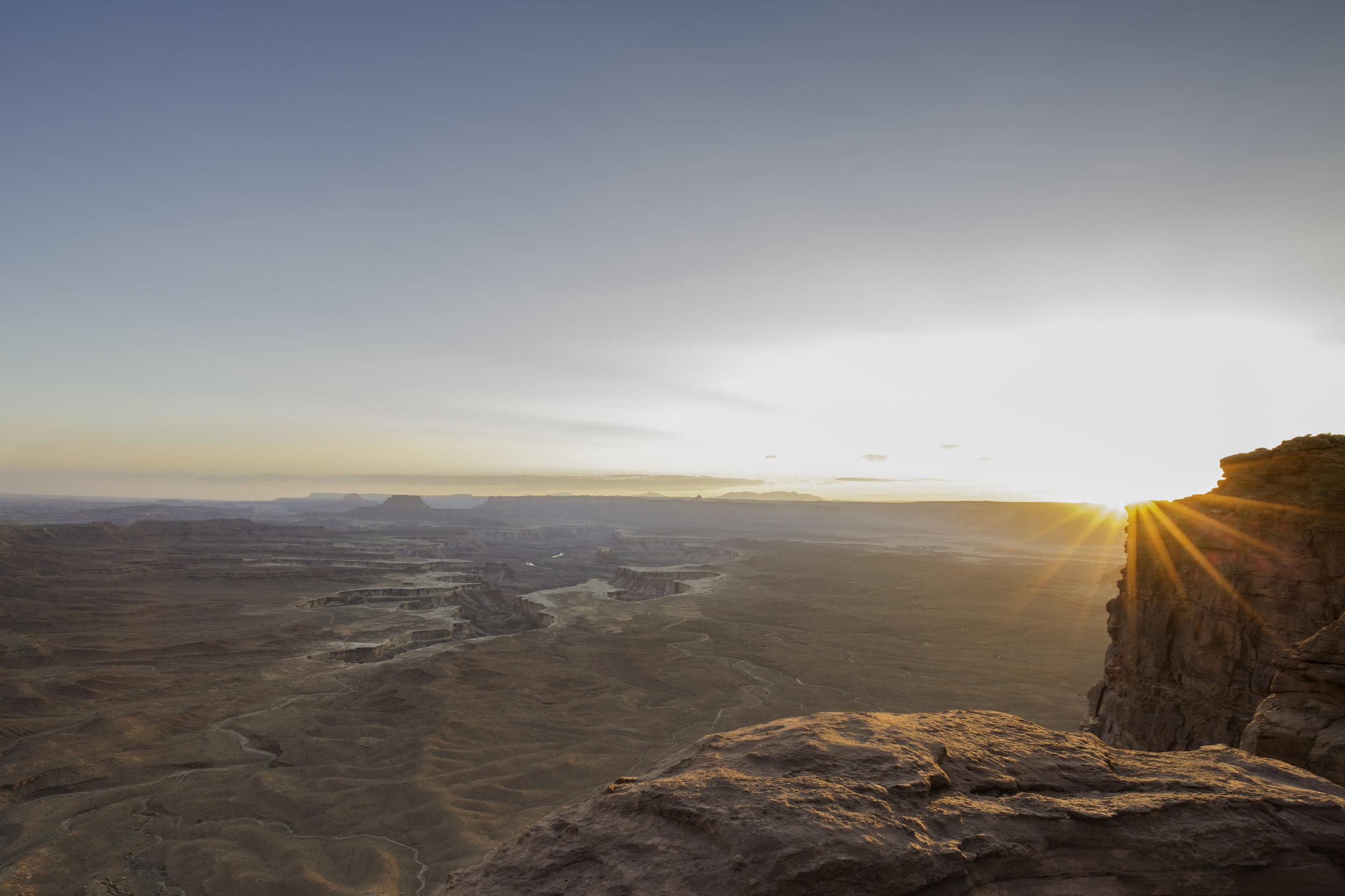 Green River Overlook, Green River, Soda Springs Basin, Canyonlands, Canyonlands National Park, Sunset, Moab, Utah