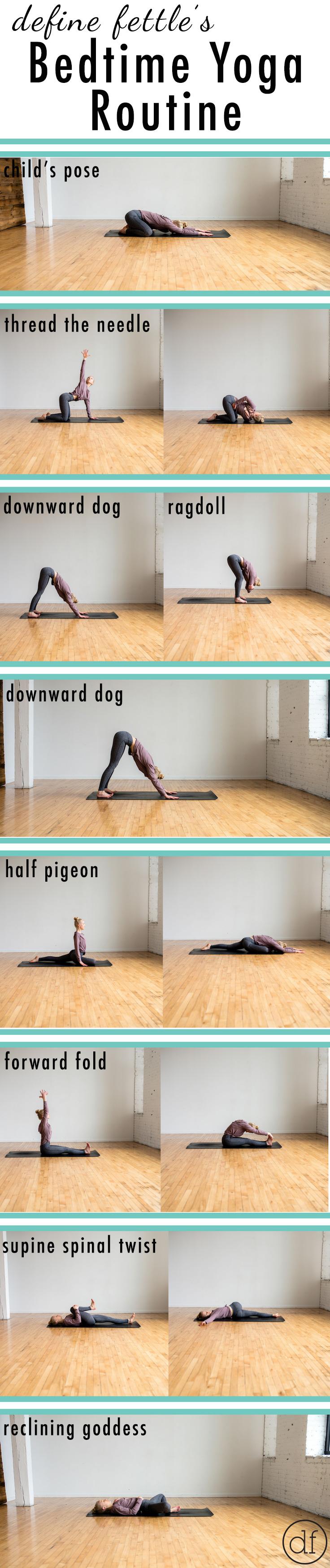 Bedtime Yoga Routine, Define Fettle, Yoga Poses, Bedtime Yoga, Yoga Routine, Beginner Yoga, Relaxation Yoga, Yoga Blogger, Fitness Blogger,