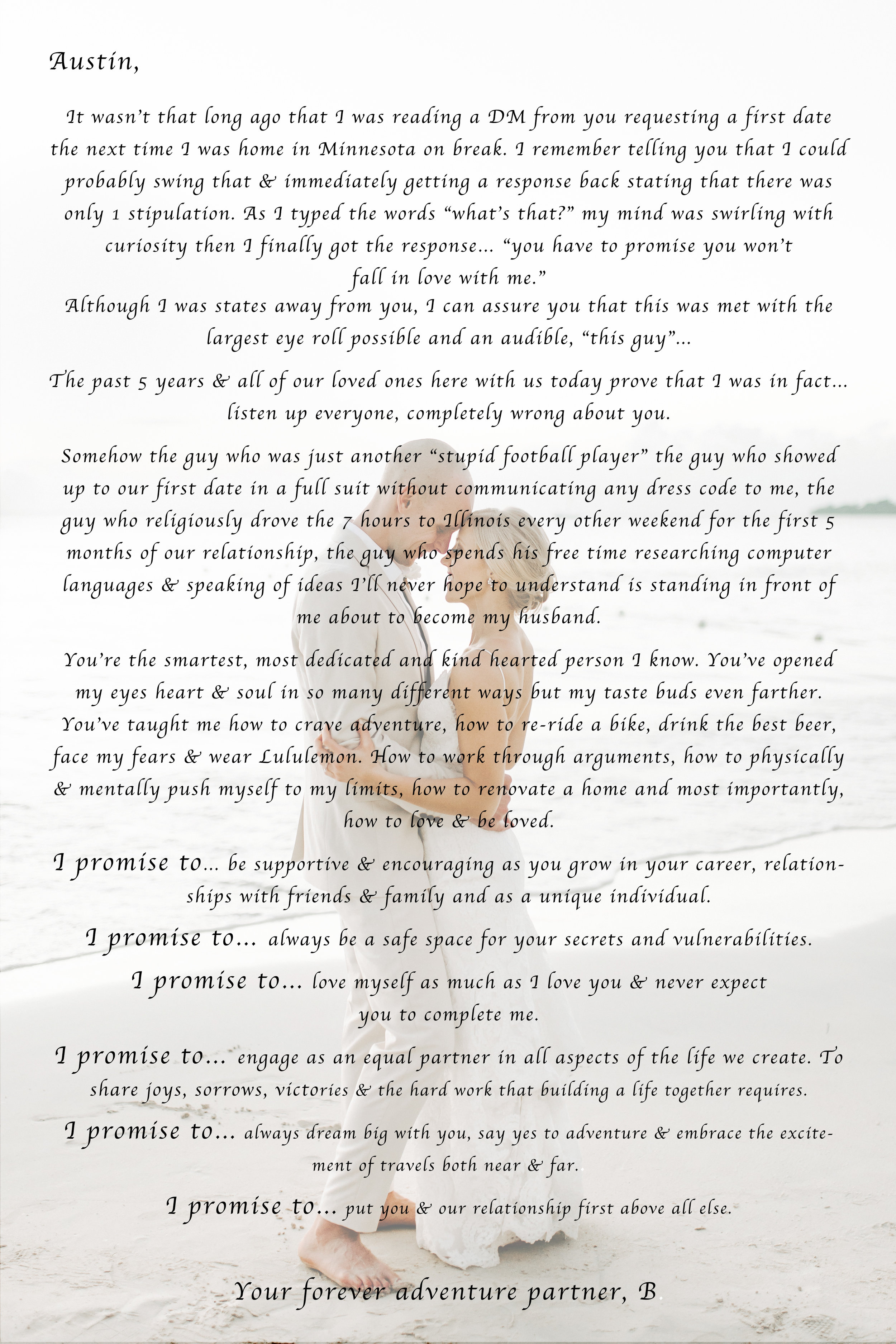 Wedding Vows, Modern Wedding Vows, Beach Wedding Vows, Personal Wedding Vows, Vows, Non Traditional Wedding Vows, Beach Wedding Destination Wedding, Define Fettle