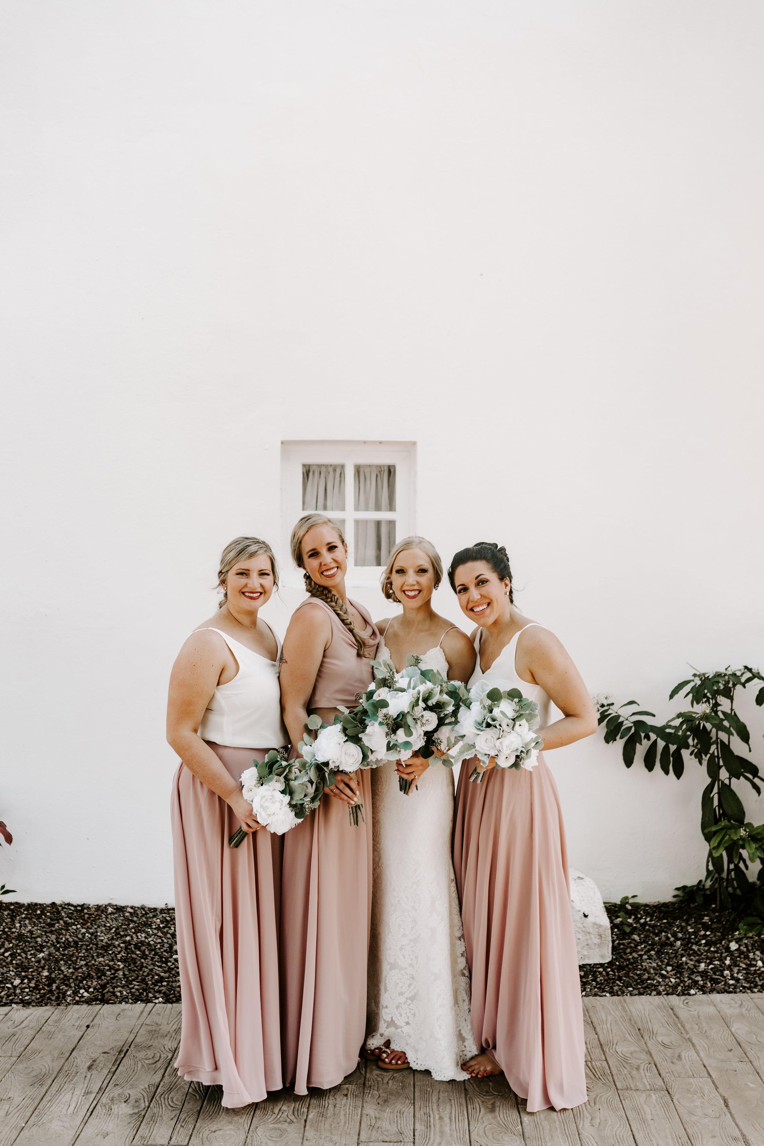 beach wedding, bridesmaids, 2 piece bridesmaids dresses, destination wedding, jamaica wedding, define fettle