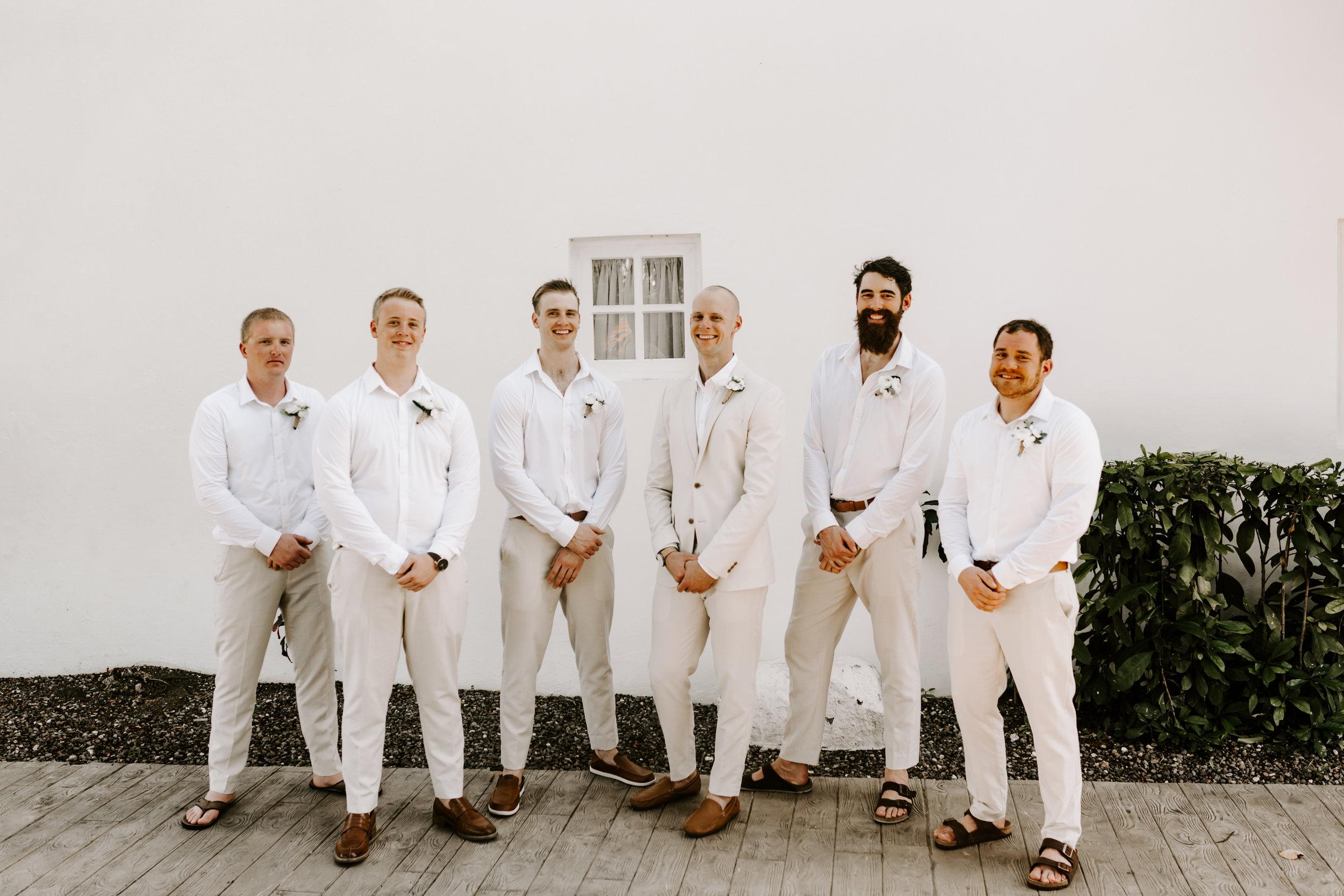 groomsmen, beach wedding, destination wedding, jamaica wedding, jamica wedding recap, wedding day, define fettle