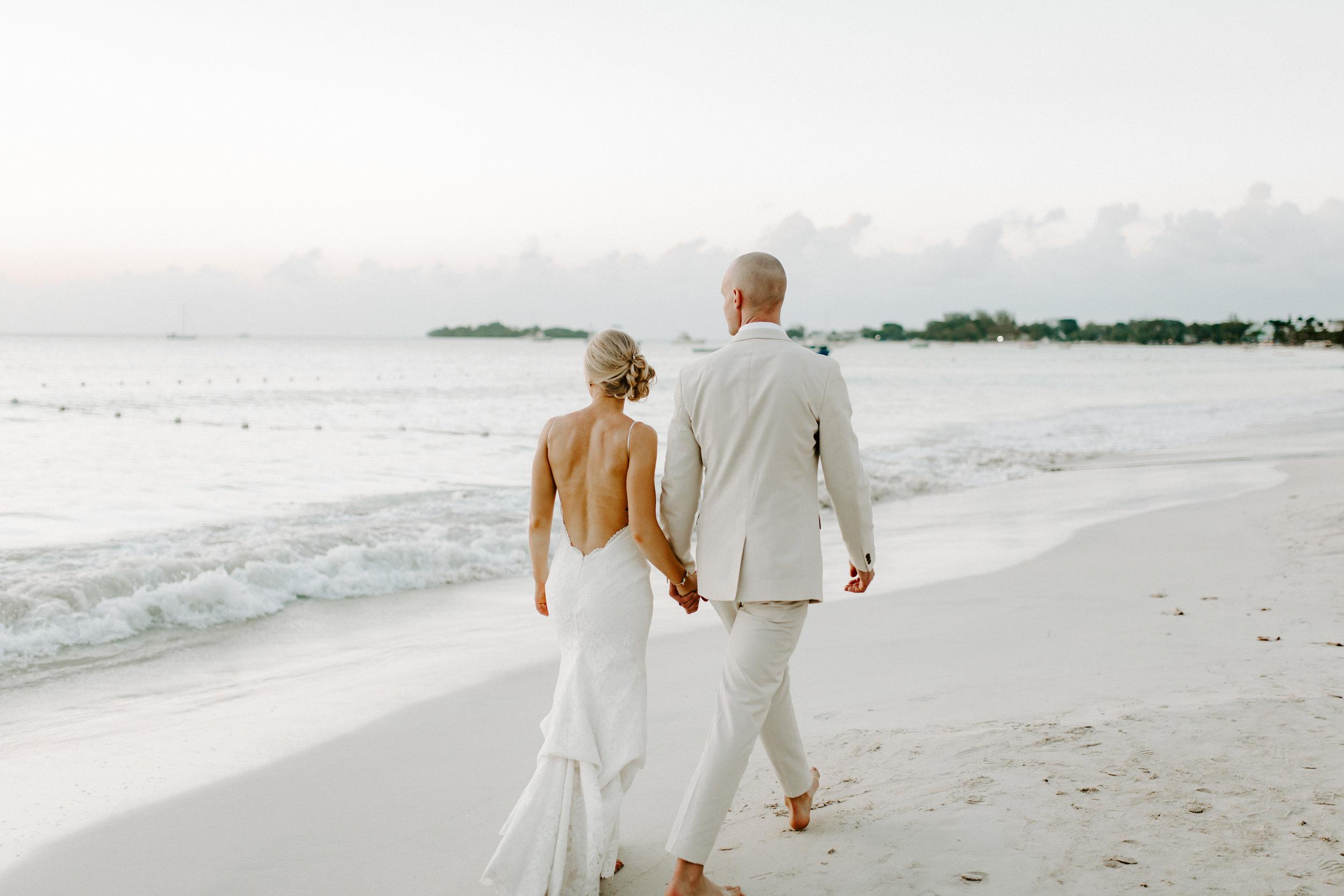 beach wedding, destination wedding, jamaican wedding, backless dress, backless wedding dress, katie may, katie may bridal, define fettle