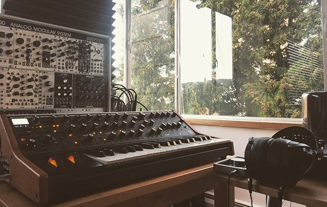 Meditation ✨ @moogsynthesizers @audeze_official