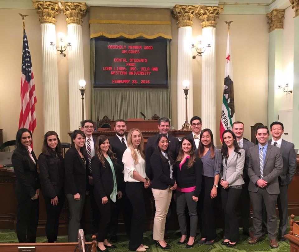 Southern California student leaders at the California Assembly Chamber.
