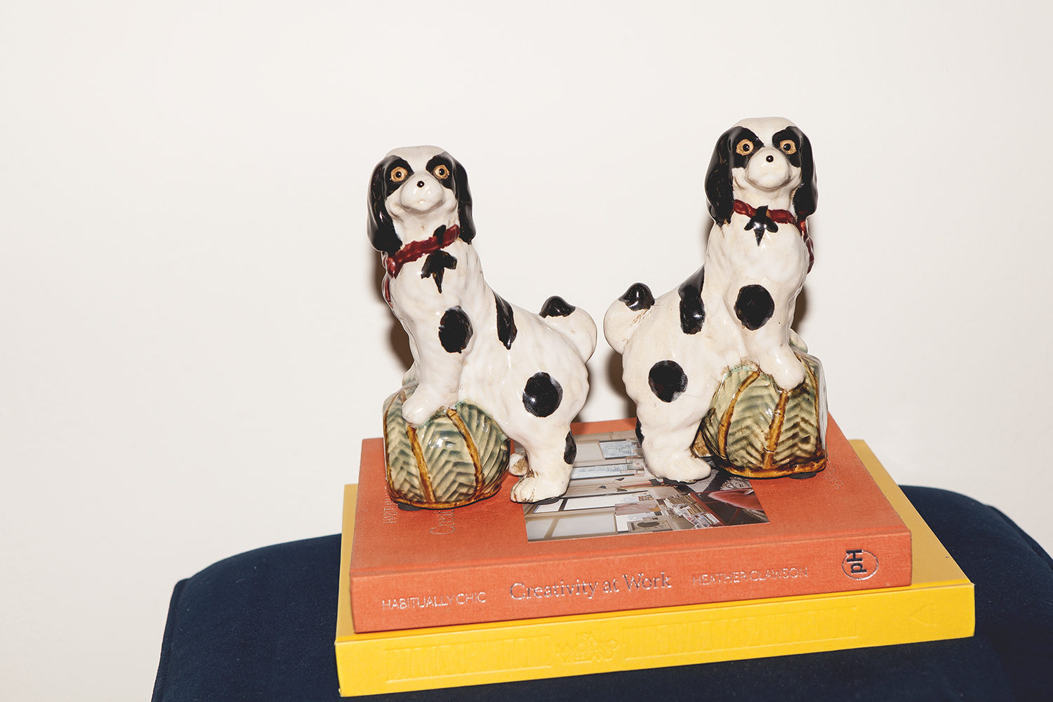 Dziadul keeps memorabilia around the house, such as this pair of dogs he got from a great aunt.
