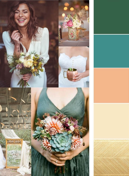 The photographer and art director, Kris of KM Photography, provided a mood board and color palette.
