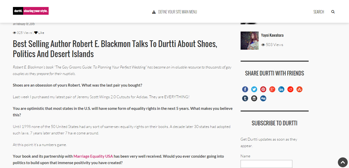 Best Selling Author Robert E. Blackmon Talks To Durtti About Shoes  Politics And Desert Islands   durtti.com.png