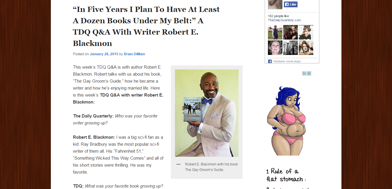"""""""In Five Years I Plan To Have At Least A Dozen Books Under My Belt """" A TDQ Q A With Writer Robert E. Blackmon   The Daily Quarterly.png"""