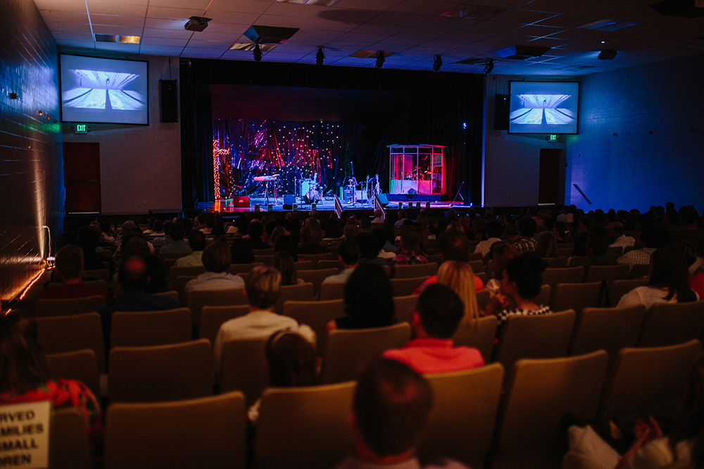 I Will Not Fear screens during CONNECT Worship at Collegedale Seventh-day Adventist Church.