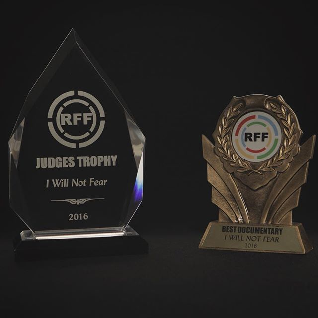 """I Will Not Fear"" is proud to take home ""Best Documentary"" and ""Judges Trophy"" from the 2016 Revolution Film Festival #saufilm #nofearfilm #iwillnotfear"