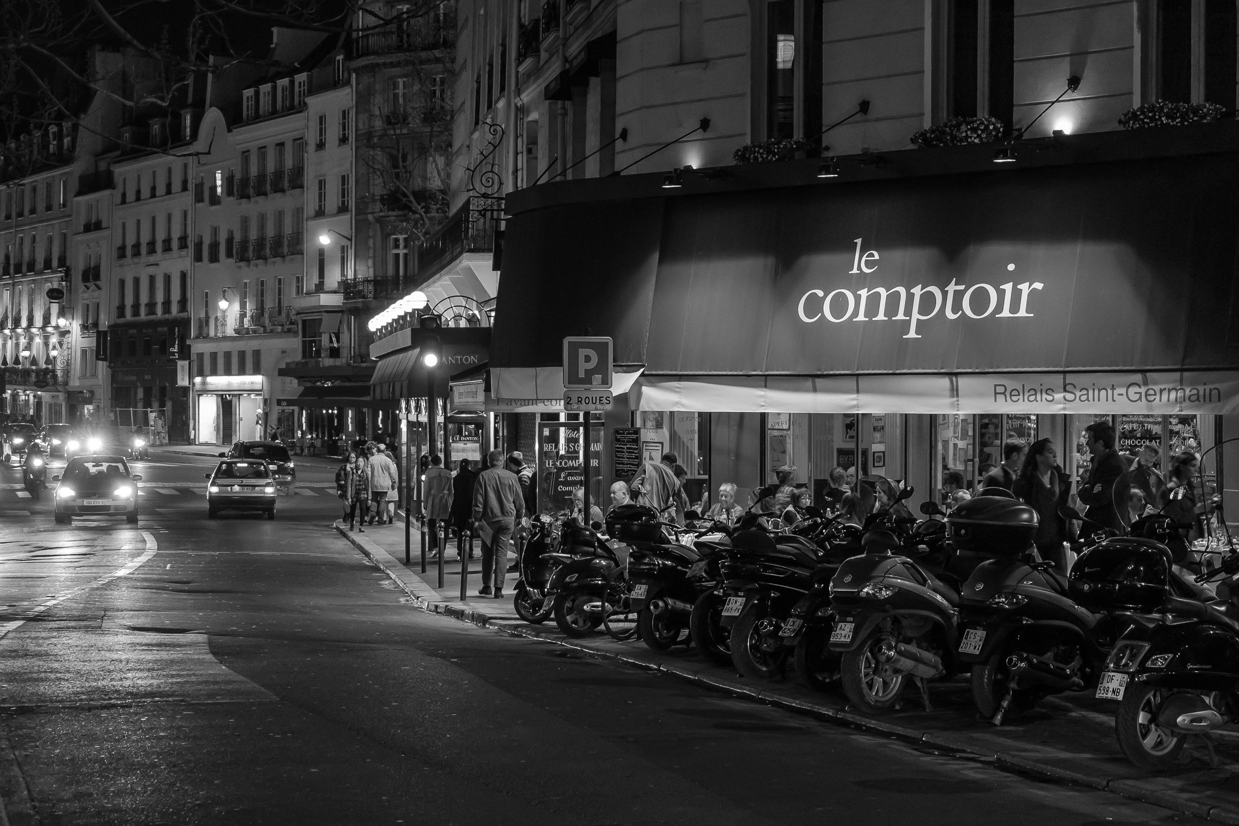 Spring evening, Le Comptoir du Relais