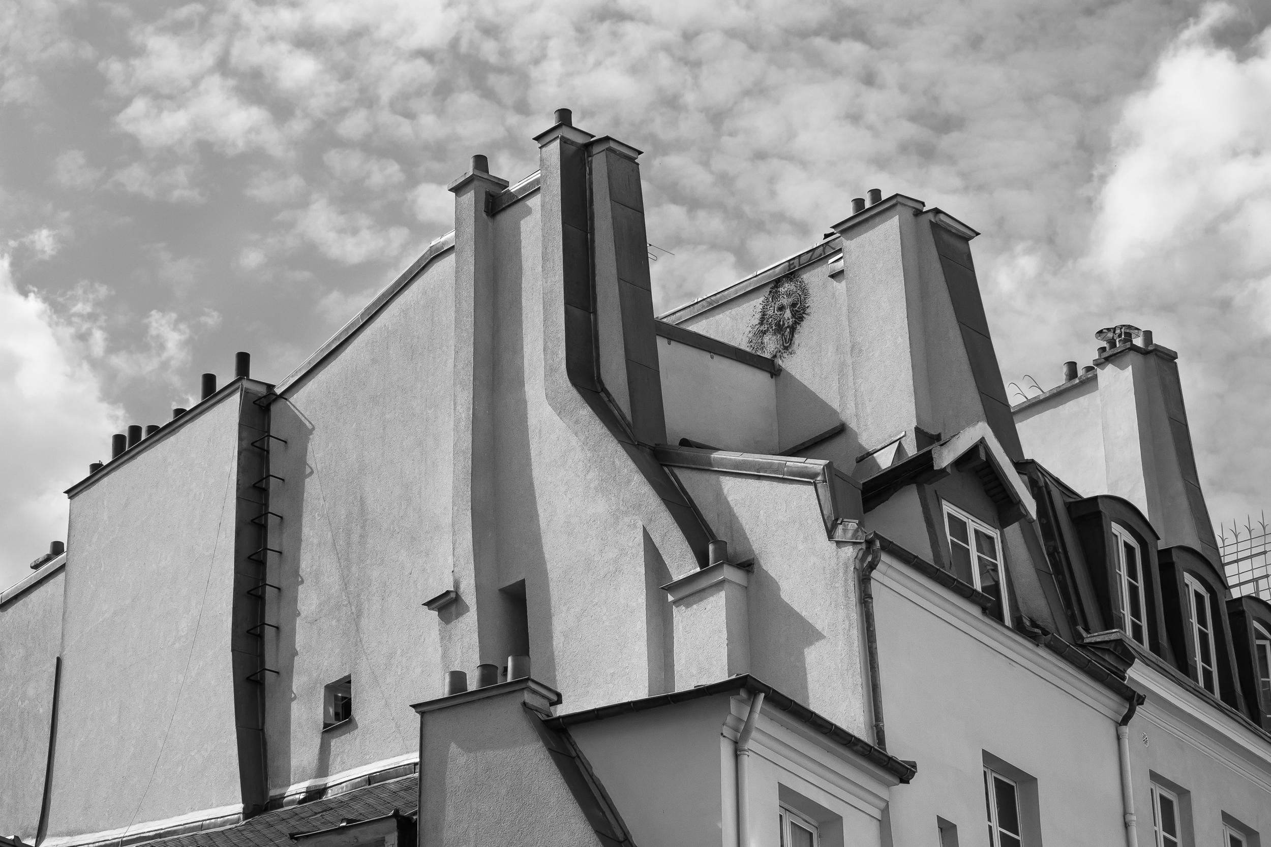 Rooftops and sky, Saint-Germain-des-Prés