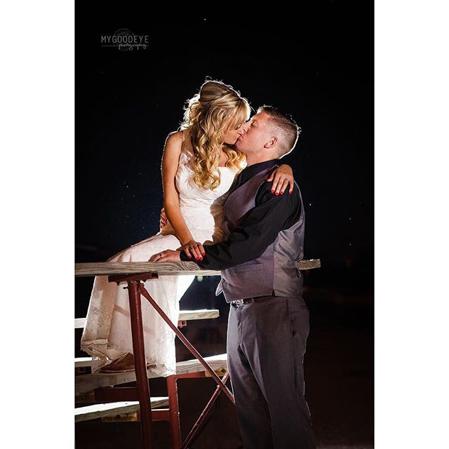 Another one from the #wedding this weekend. #destinationwedding #stlweddingphotographer #havecamerawilltravel #weddinginspiration #brideandgroom #ocf #nightportraits #offcameraflash #stlbride