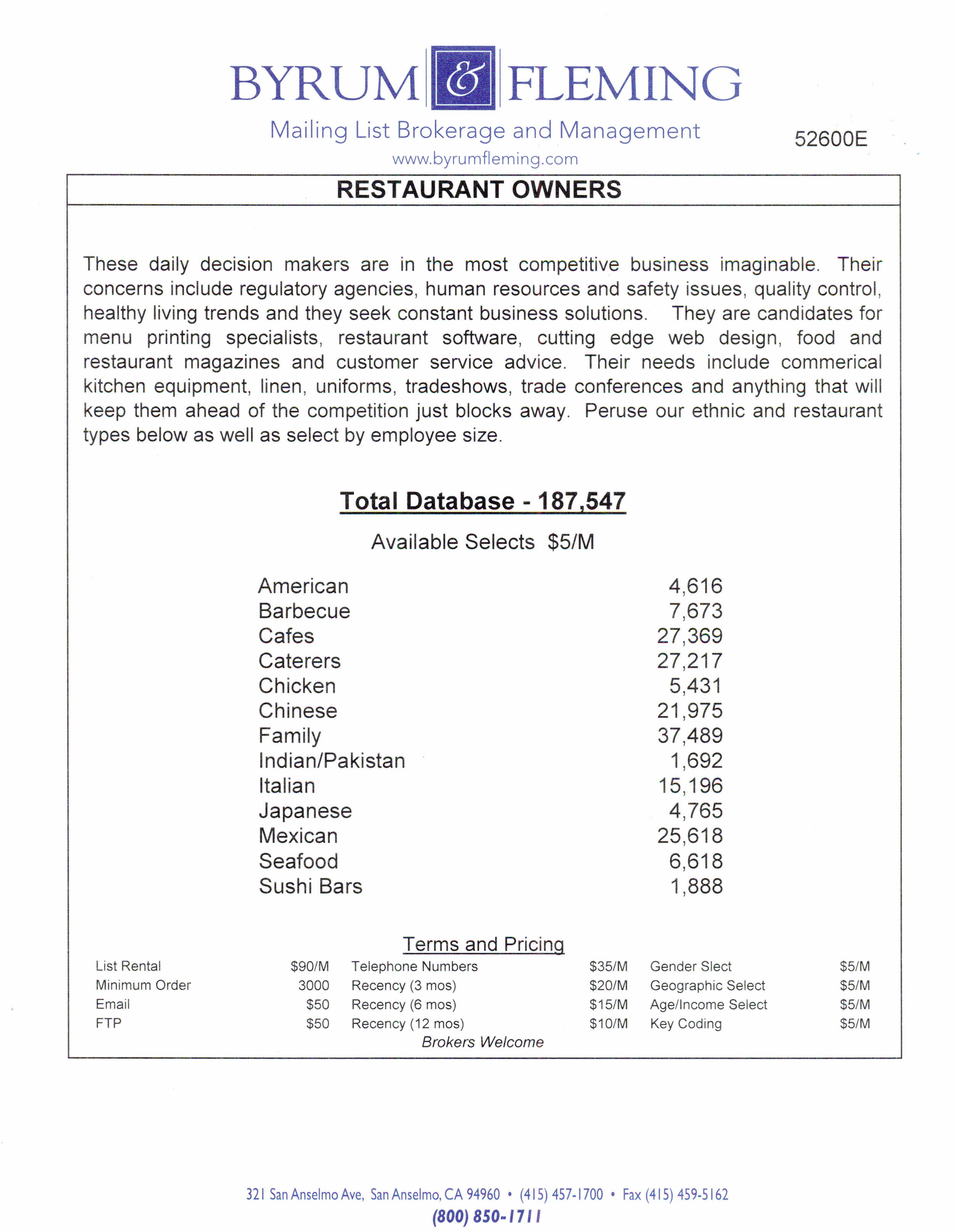 American Barbecue Cafes Caterers Chicken Chinese Family Indian/Pakistan Italian Japanese Mexican Seafood Sushi Bars