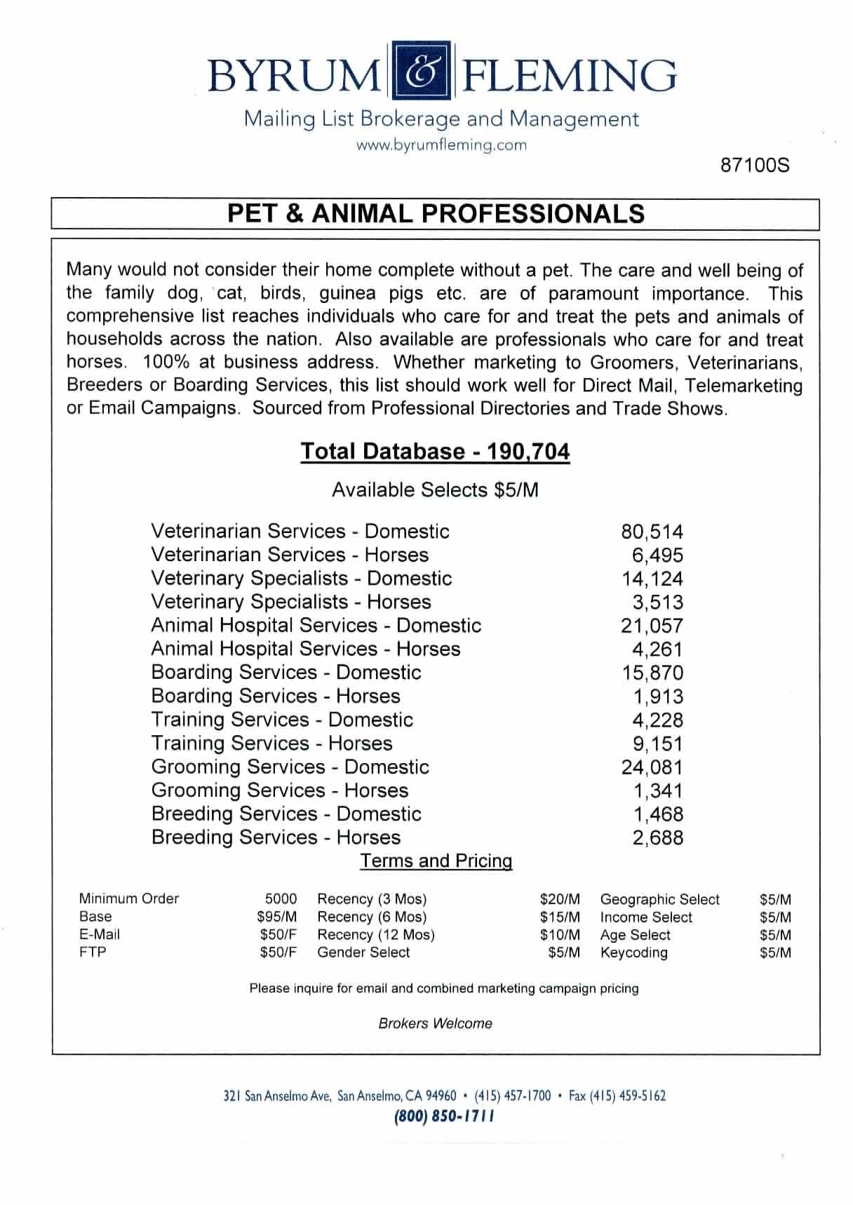 Breeding, Veterinary, Grooming, Horses