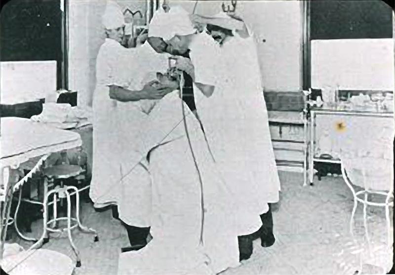Chevalier Jackson bronchoscopy at Jefferson