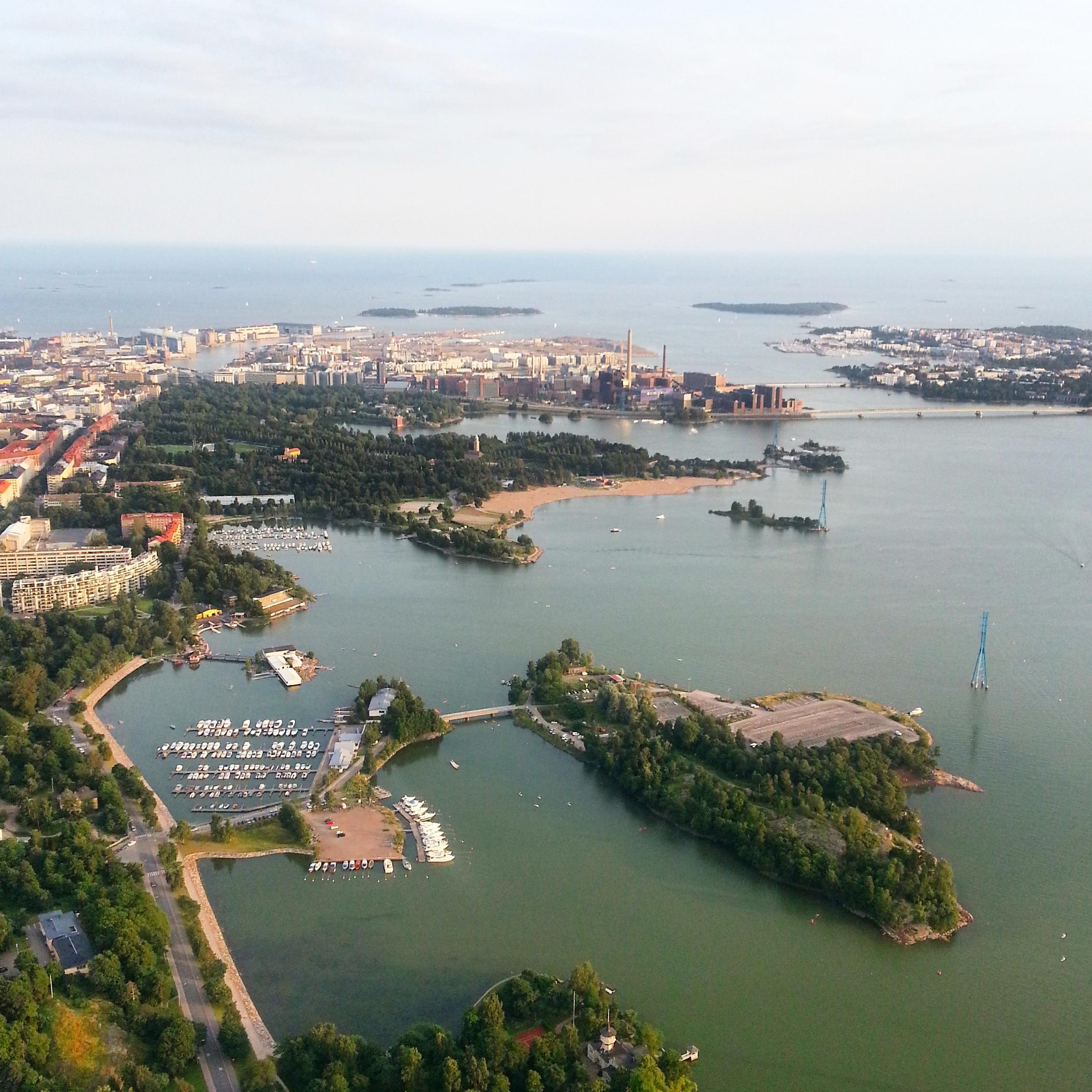 Kuumailmapallon kyydissä näki Helsingin ihan uudella tavalla