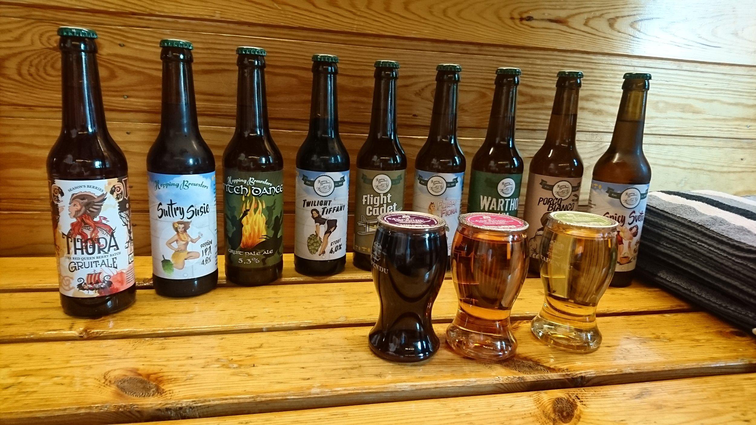 Saunaoluet ja -viinit tarjosi Juoma-Agentit ja akaalainen pienpanimo Hopping Brewsters, jonka oluet ovat erinomaisia