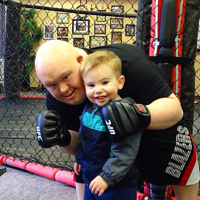 Co-founder Jacob Beckmann and Greyson Walker at Walker Martial Arts, Newberg, Oregon