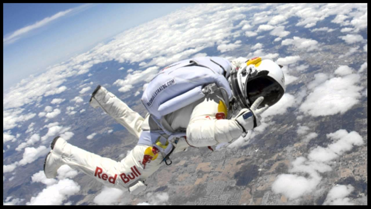Felix Baumgartner broke the speed of sound, reaching an estimated speed of 1,342.8 km/h jumping from the stratosphere.