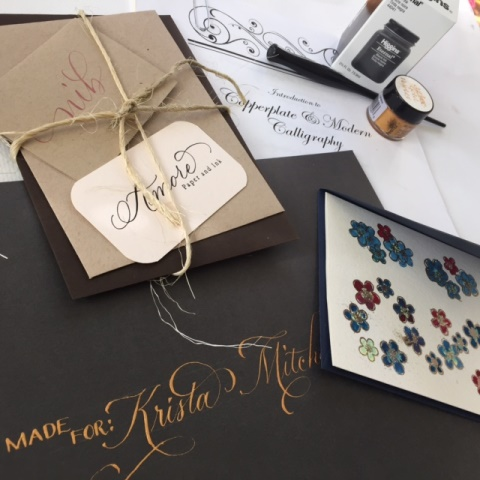 Bella Carta and Amore Paper and Ink Calligraphy Workshops Start February 7, 2016