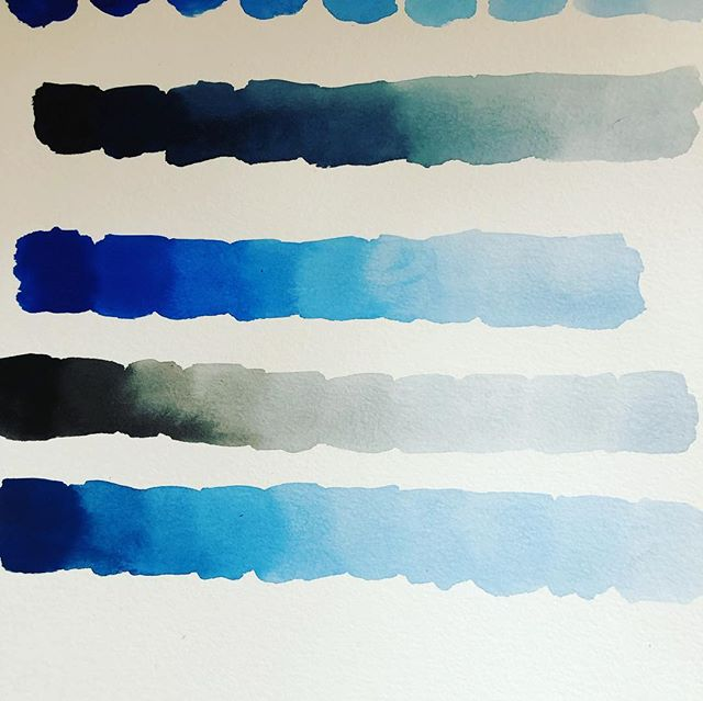Day 1 of the #everydaywatercolor 30 day challenge. Had fun learning to make different shades of two colors. Looking forward for day 2. #watercolor #30daywatercolorchallenge #everydaywatercolor #learningthebasics #happyplace