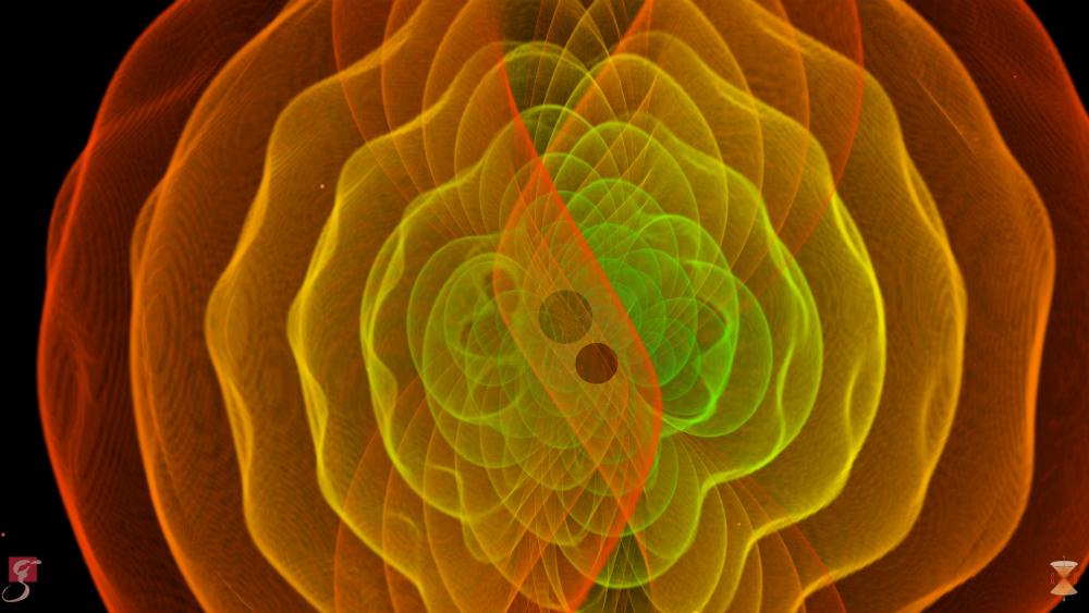 Numerische Simulation zweier verschmelzender Schwarzer Löcher © S. Ossokine, A. Buonanno (Max-Planck-Institut für Gravitationsphysik) Wissenschaftliche Visualisierung: W. Benger (Airborne Hydro Mapping GmbH)