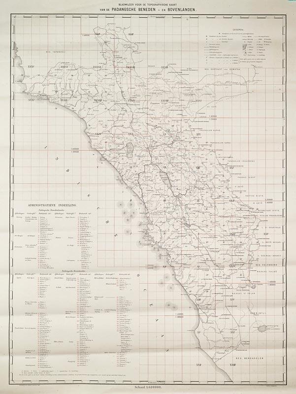 Padangsche Beneden en / et / und Bovenlanden © Topografisch Bureau Batavia, 1905