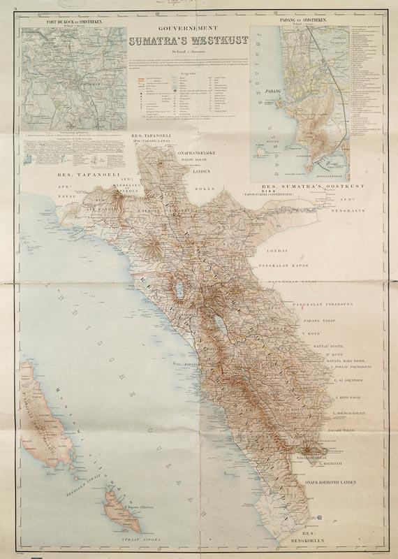 Sumatra's Westkust / Côte ouest de Sumatra / Westküste von Sumatra © Topografische Inrichting, droits réservés