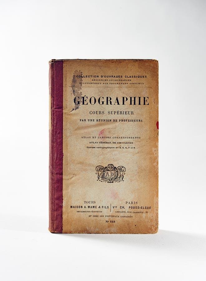 Géographie Cours Supérieur, Maison A. Mame et fils, Tours, sans date (début XXe). Livre de / Buch von Tilly Joseph Schmitz du Moulin, 11,3x17,8cm