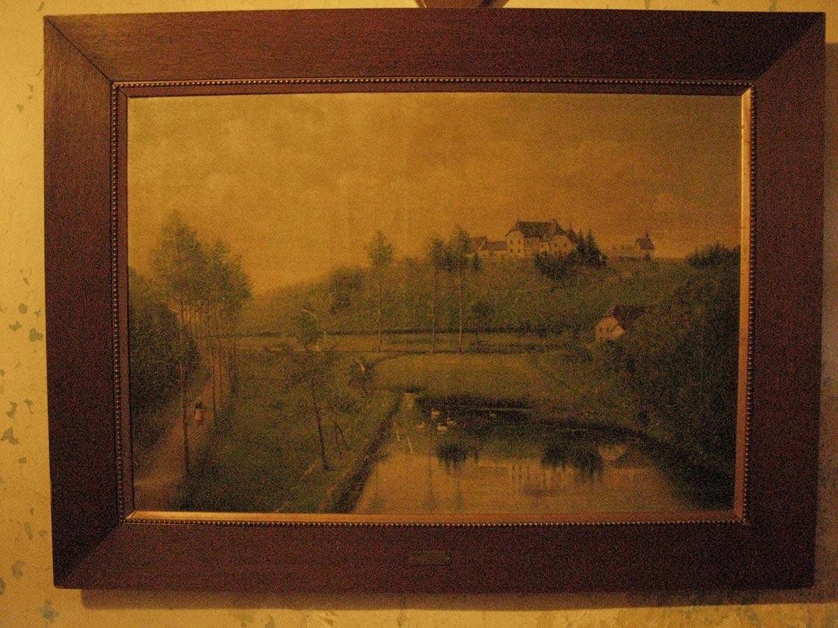Peinture représentant le / Malerei mit Birelerhof © peintre inconnu, droits réservés