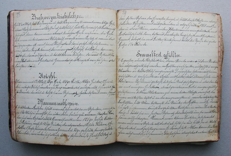 Buchweizenküchelchen, Kräpfel, Pflaumenmehlspeise © Auteurs inconnus, droits réservés