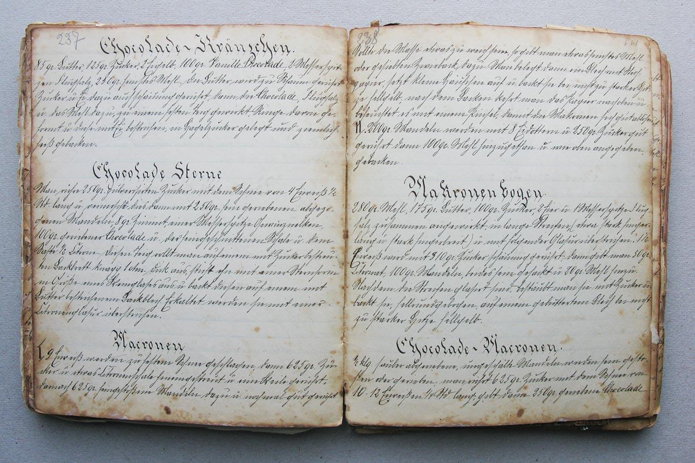 Chocoladen Kränzchen - Chocolade Sterne - Marronen - Makronenbogen © Auteurs inconnus, droits réservés