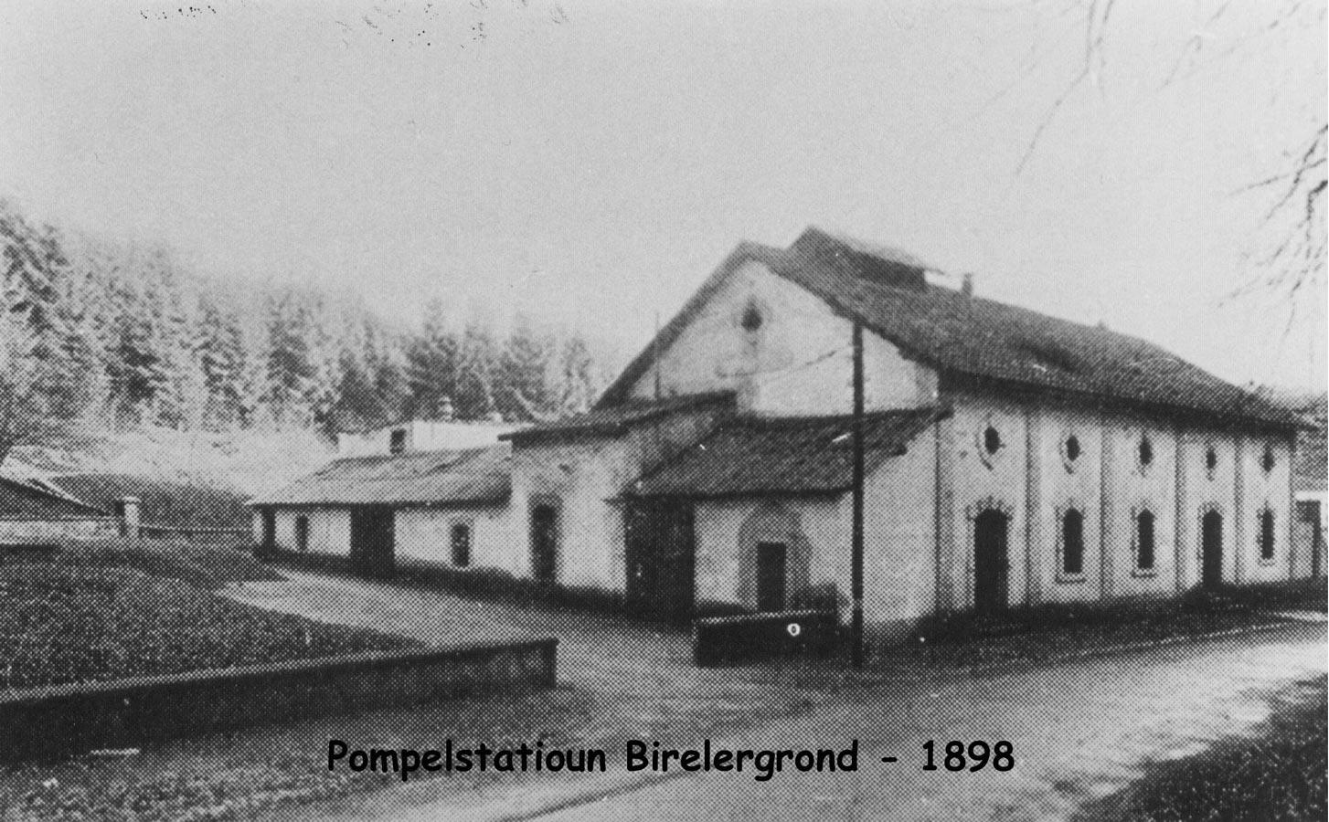 Station de pompage / Pumpstation, Birelergrund, 1898 © photographe inconnu, droits réservés, Collection Jos Feller, Sandweiler