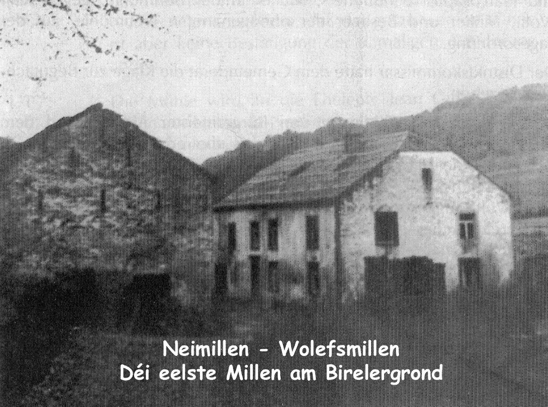 Neimillen-Wolefsmillen, le moulin le plus ancien du Birelergrund / die älteste Mühle im Birelergrund, © photographe inconnu, droits réservés, Collection Jos Feller, Sandweiler