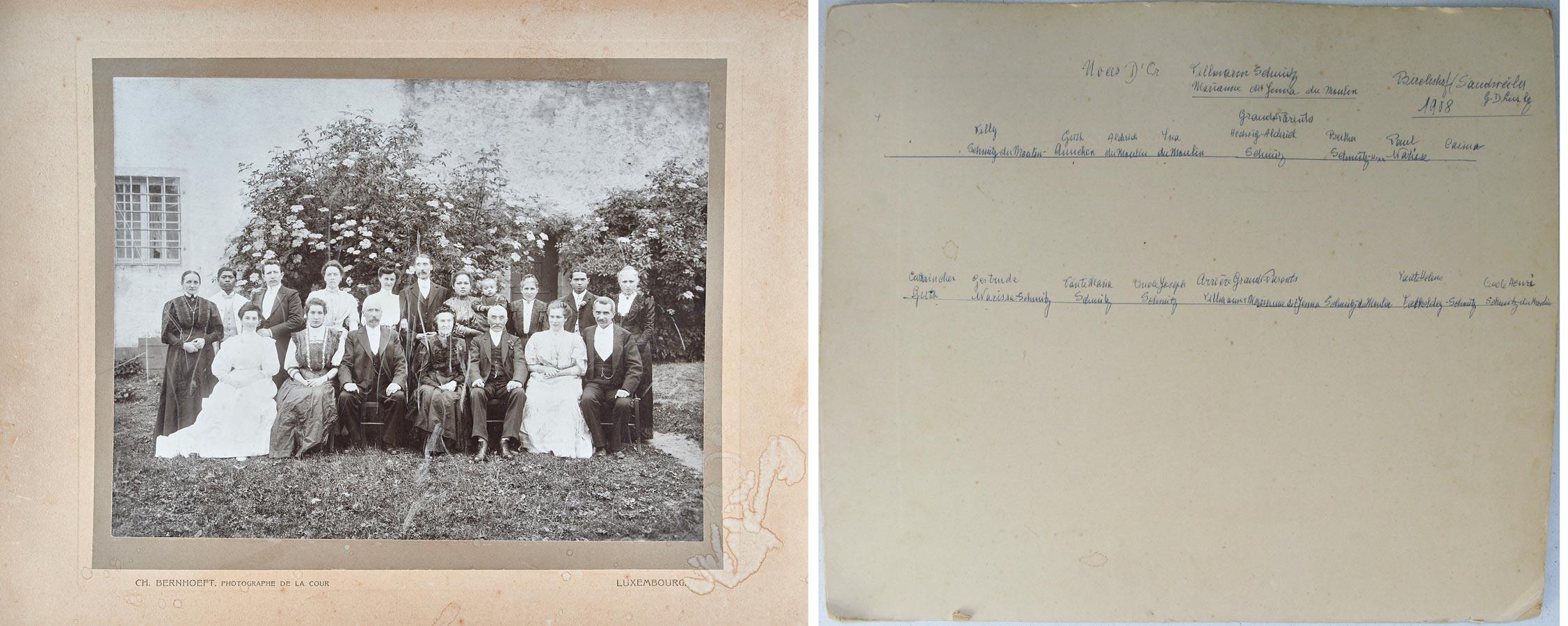 50ième anniversaire de mariage de / 50. Hochzeitstag von Maria Anna du Moulin et / und Tillmann Schmitz, Birelerhof, 1908 © Charles Bernhoeft
