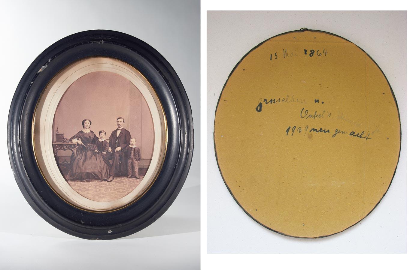 Portrait de / von Tillmann, Maria Anna, Heinrich, Joseph Schmitz, 1864 © photographe inconnu, droits réservés