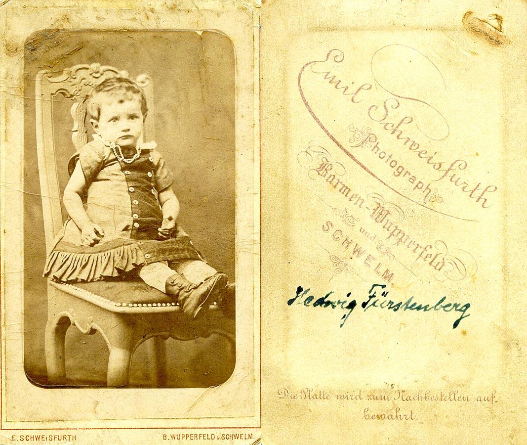 Hedwig Fürstenberg, © E. Schweisfurth, B. Wupperfeld u. Schwelm (D)