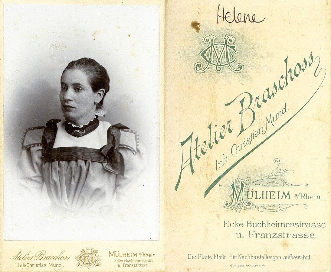 Helene Schmitz © Ateleir Braschoss, Mühlheim a. Rhein