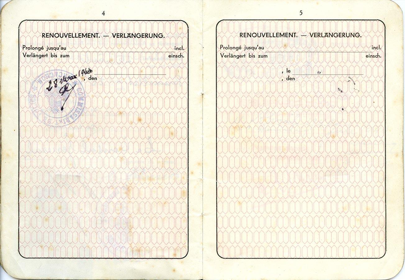 Passeport de / Pass von Marianne Schmitz, 1939