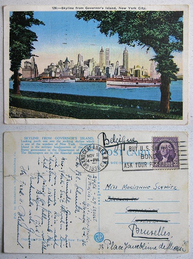 Pub. by Manhattan Card Publishing © Irving Underhill, New York