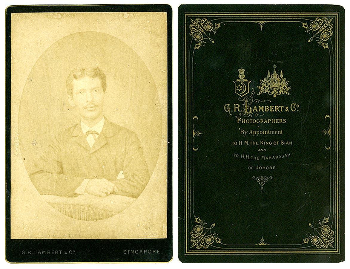 Heinrich Schmitz du Moulin, Singapore vers / um 1880 © G. R. Lambert & Co Photographers