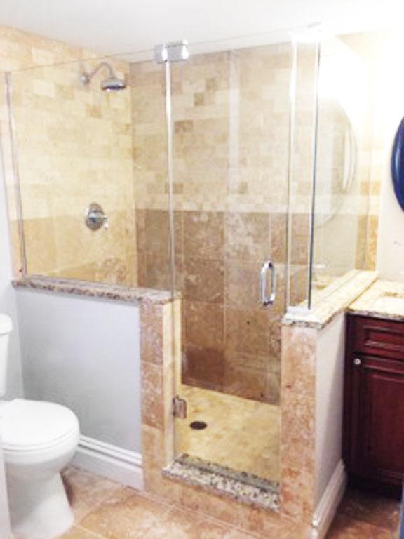 custom shower glass door
